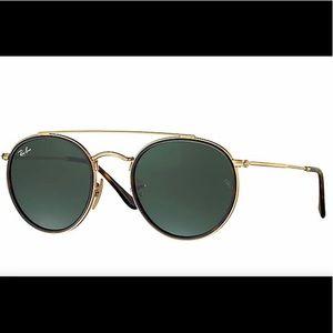 Brand new ray ban double bridge round sunglasses